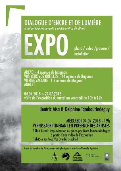 Affiche Expo Dialogue Encre et Lumière